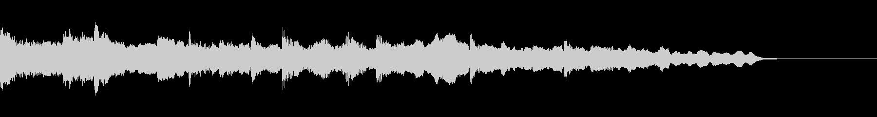 ピアノとチェロの短いBGM~後半~の未再生の波形