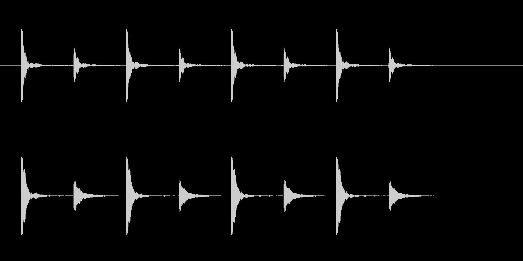 クイズ思考タイム用チックッタックッ×4回の未再生の波形