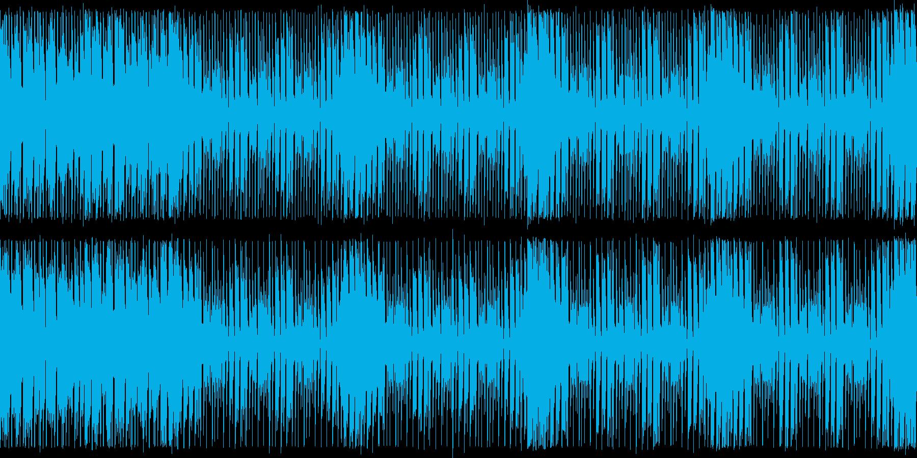 ダンスエクササイズBPM140:ループ版の再生済みの波形