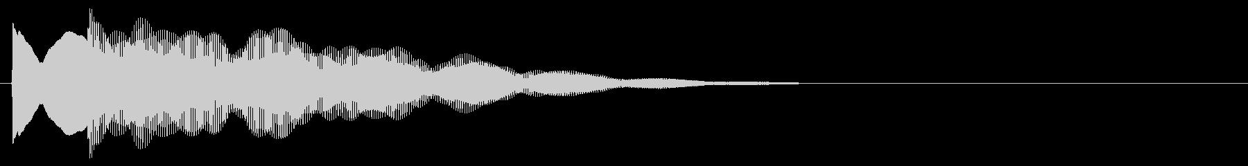 マレット系 キャンセル音4(小)の未再生の波形