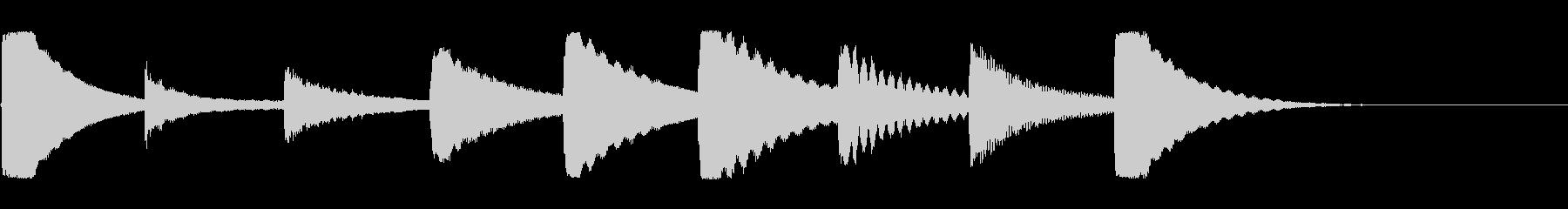 可愛いジングル【カリンバの生演奏】の未再生の波形
