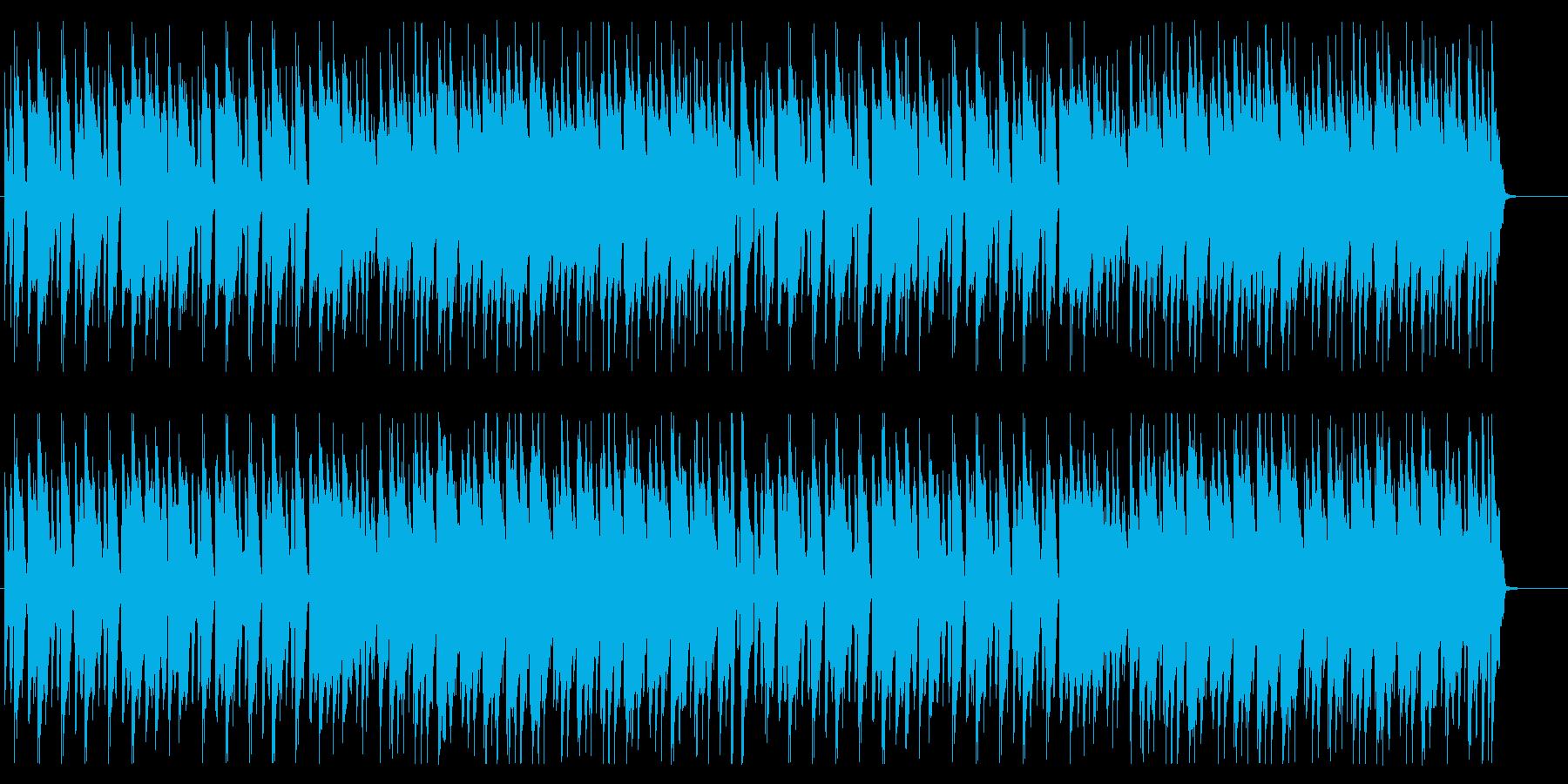 料理をイメージしたほのぼのとしたBGMの再生済みの波形