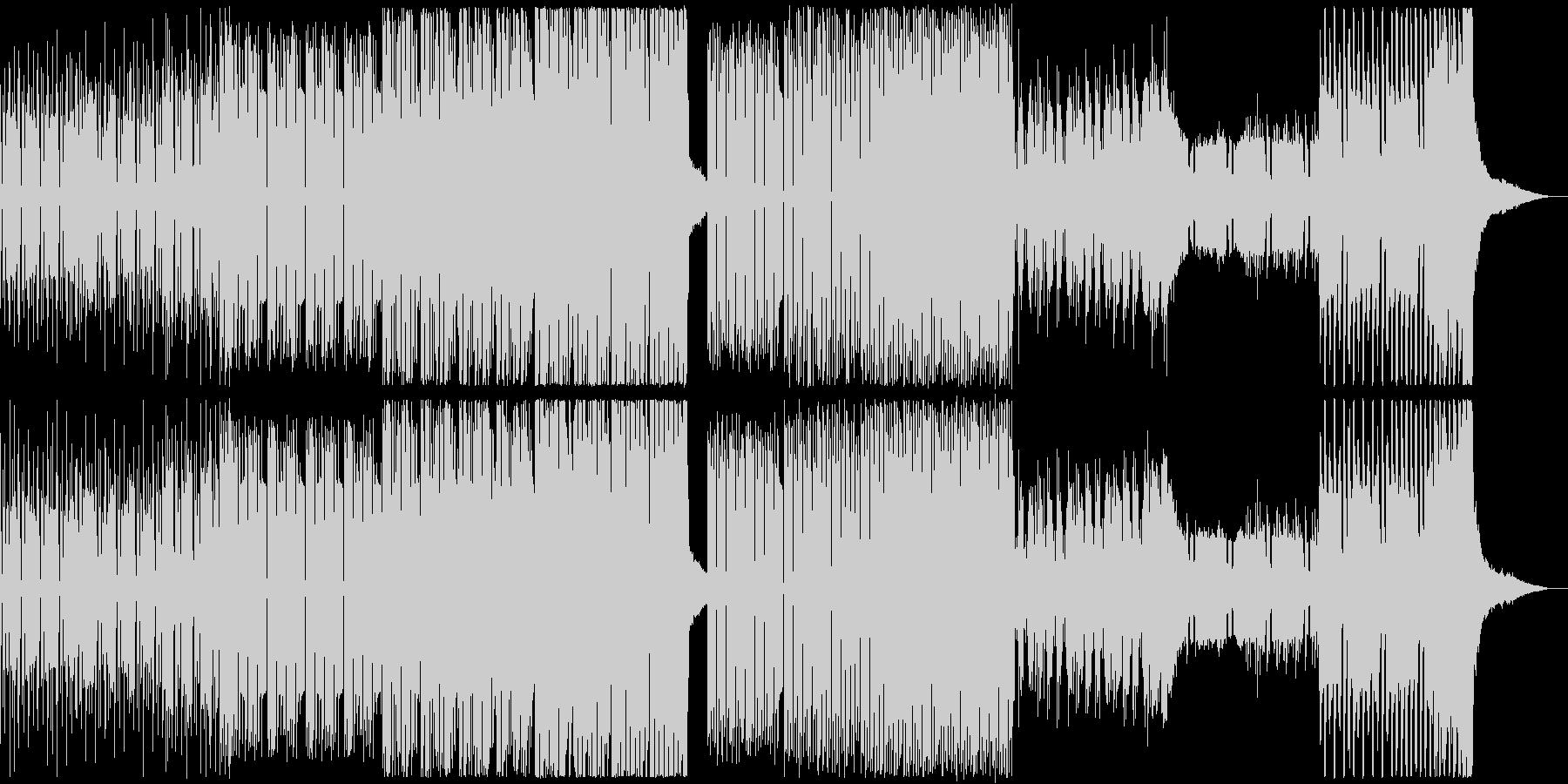 壮大、転回のあるEDMの未再生の波形