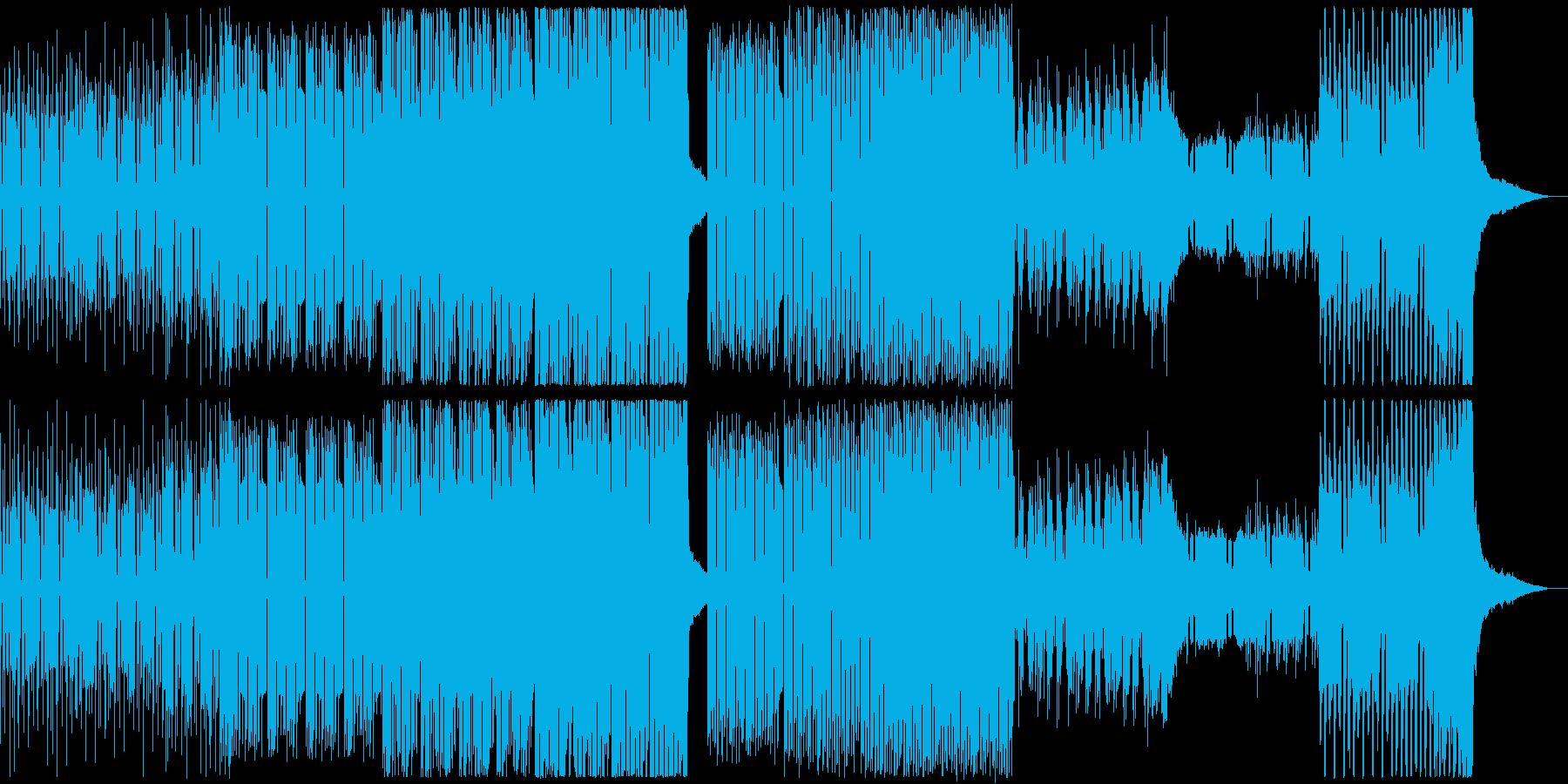 壮大、転回のあるEDMの再生済みの波形
