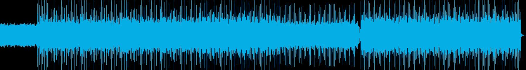 荒々しいUKロック風なインスト曲の再生済みの波形