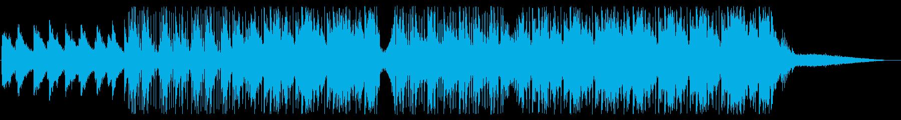 エフェクトを効かせたセンチメンタルな音楽の再生済みの波形
