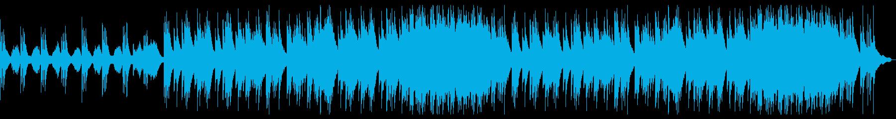 哀愁の漂う、ピアノ+ストリングスのBGMの再生済みの波形