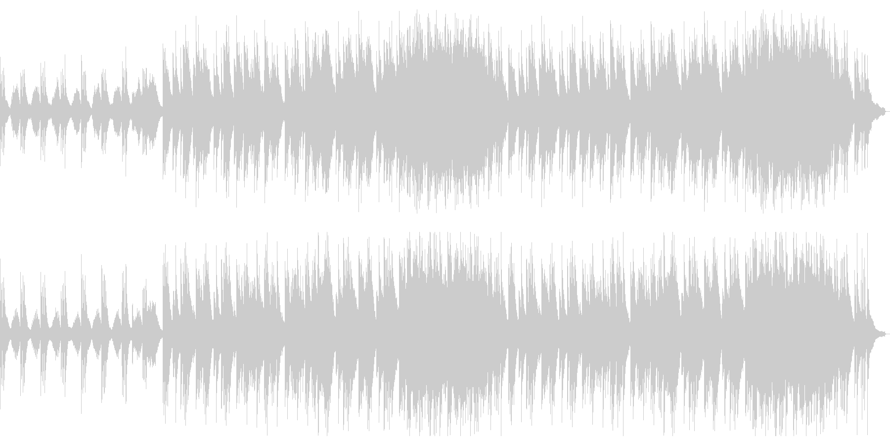 哀愁の漂う、ピアノ+ストリングスのBGMの未再生の波形