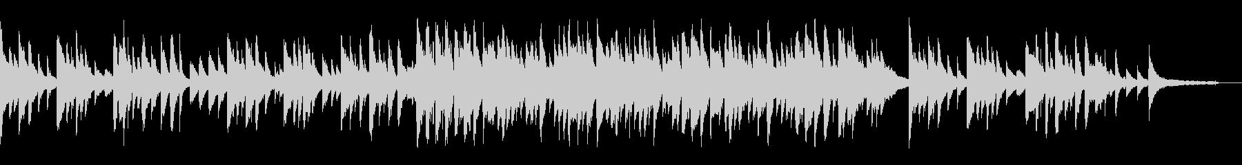 琴とピアノのしっとりと切ないBGMの未再生の波形