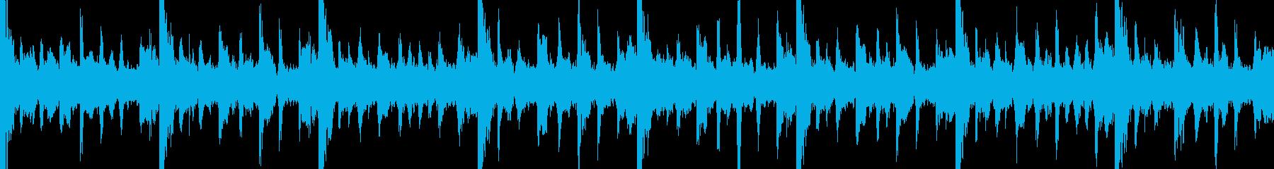 シリアスな曲の再生済みの波形