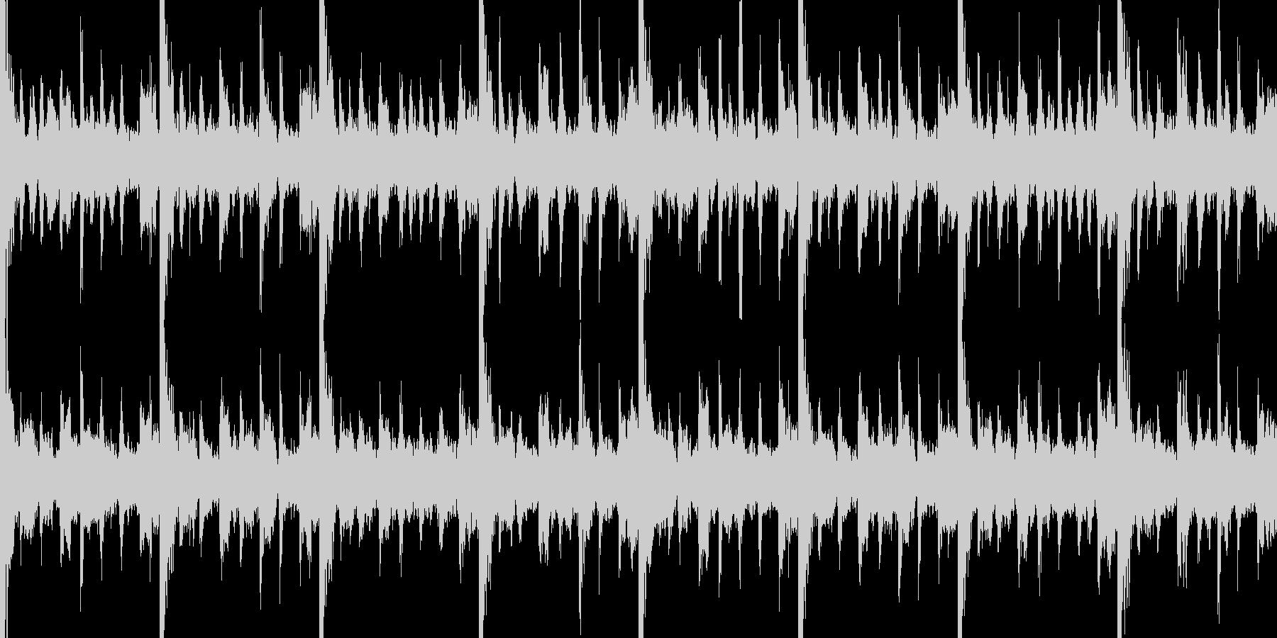 シリアスな曲の未再生の波形