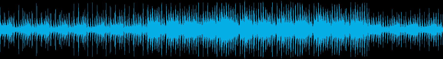 悲しげのある洞窟イメージのチップチューンの再生済みの波形