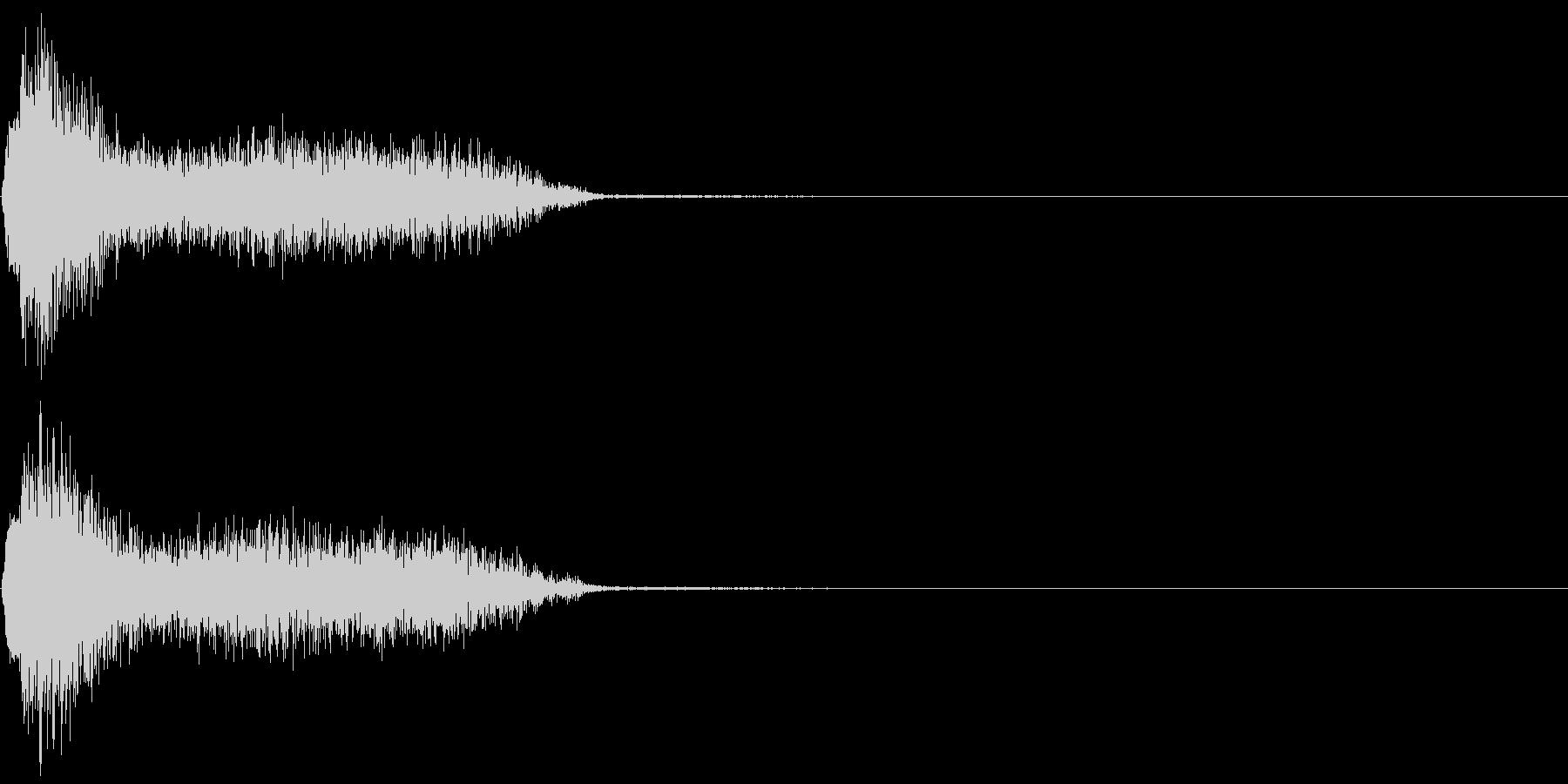 ビリビリ!電撃・感電の音!3ショートの未再生の波形