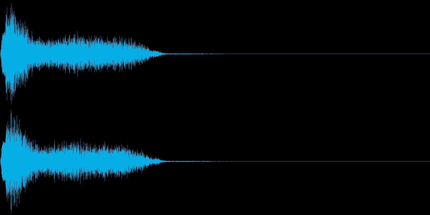 ビリビリ!電撃・感電の音!3ショートの再生済みの波形