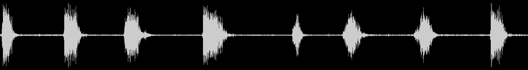 トーチで吹く、マルチソースキューx8の未再生の波形