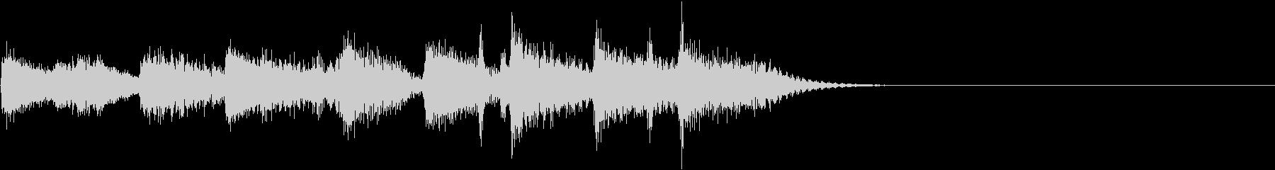 セコンドラインのジングルの未再生の波形