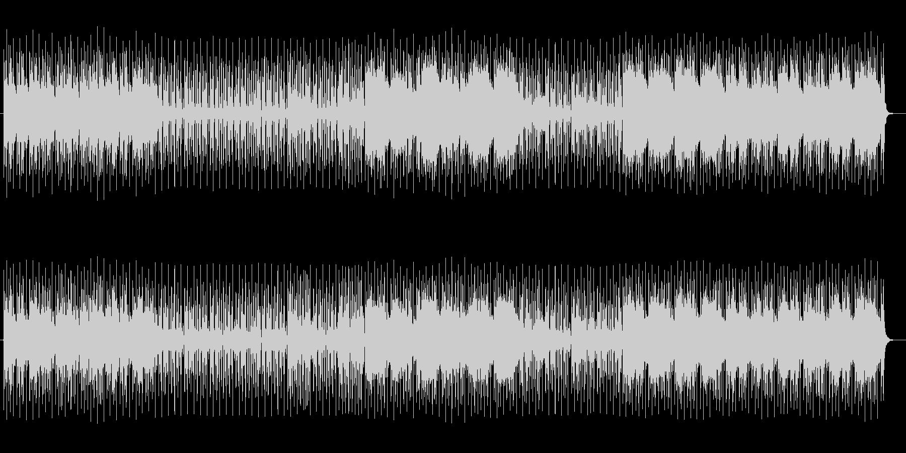 リズミカルなテクノポップの未再生の波形