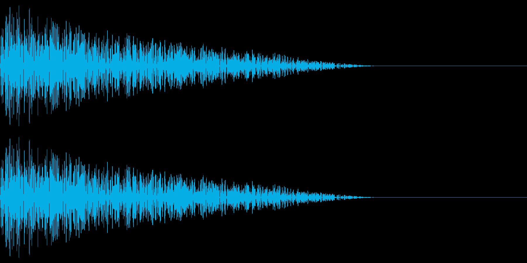 ドーン(爆発ノイズ/打撃/ファミコンの再生済みの波形
