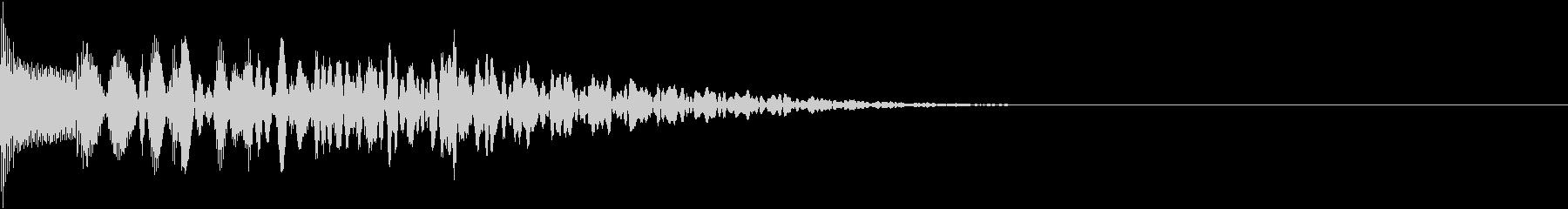 ピ↓ロロ↑(木琴スライド)低い→高いの未再生の波形