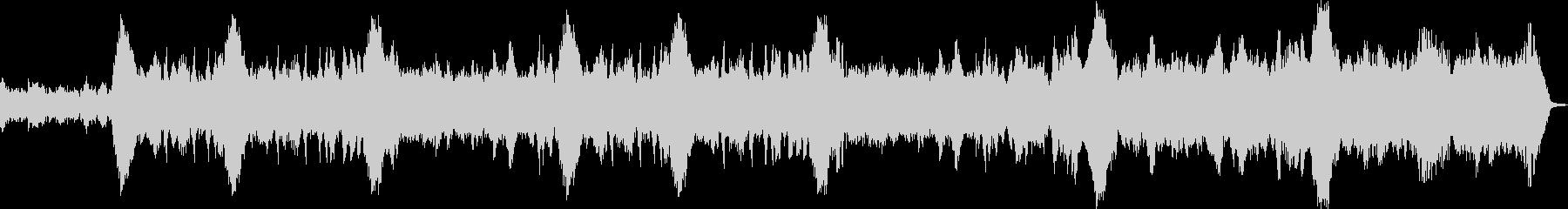 フルートとハープのノスタルジックな曲の未再生の波形