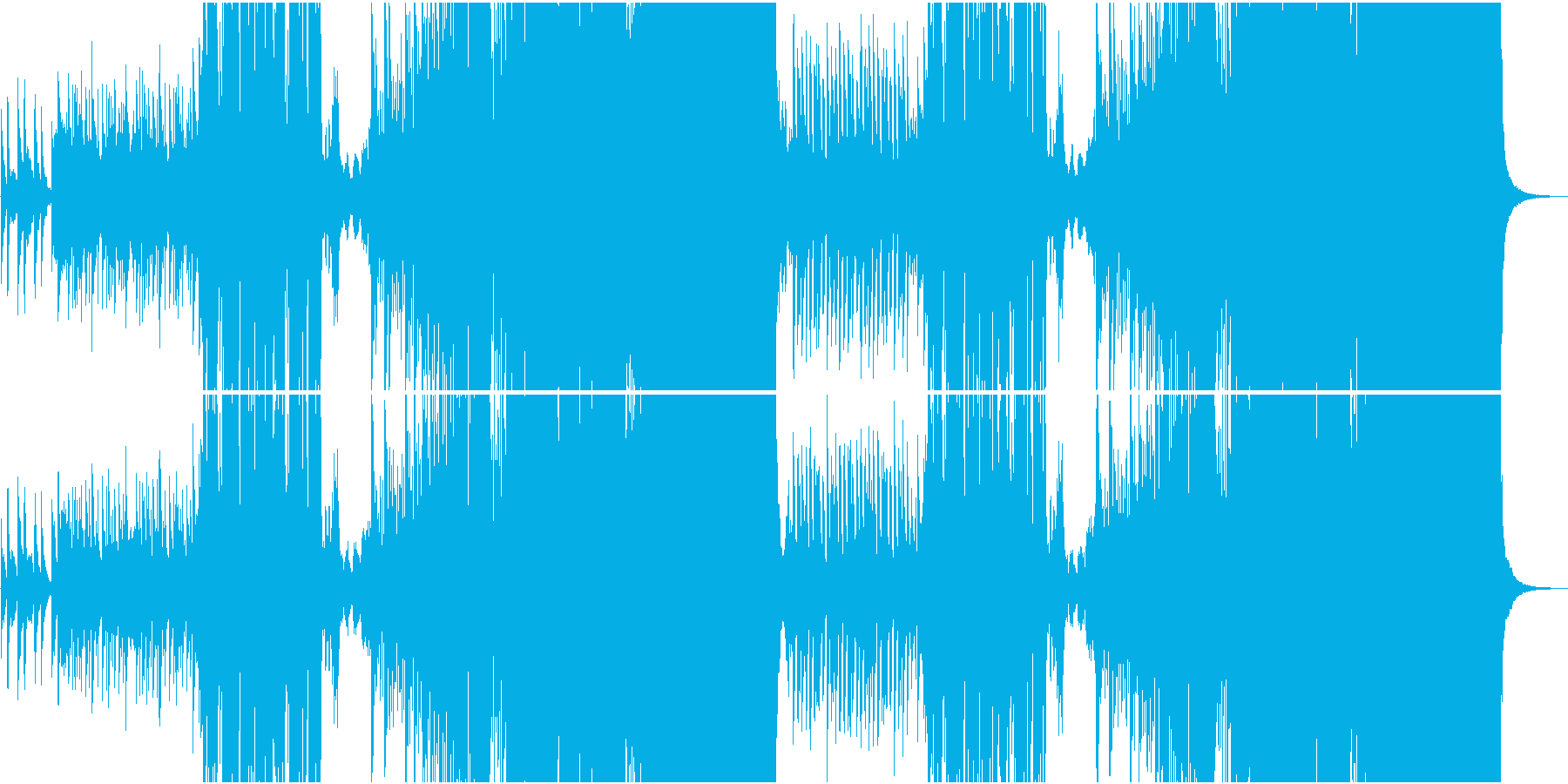琴で奏でるFuture Bassの和風曲の再生済みの波形