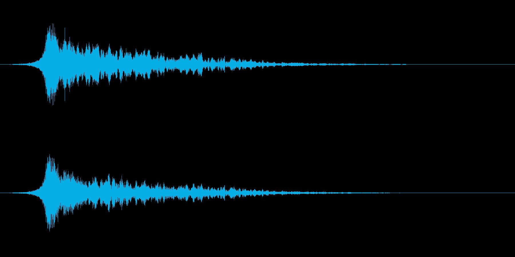 ミッション、クエスト成功などの効果音の再生済みの波形