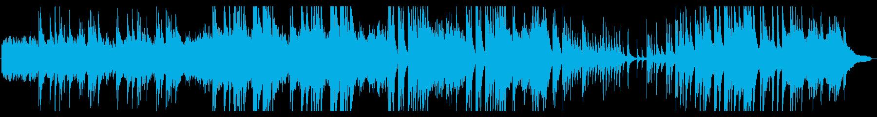 ファンタジックでノスタルジックなピアノ曲の再生済みの波形