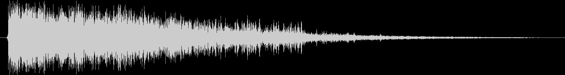 決定/ボタン押下音(上昇するイメージ)の未再生の波形