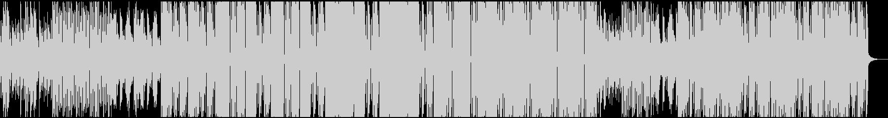 穏やかに動き出す様子(テクノサウンド)の未再生の波形