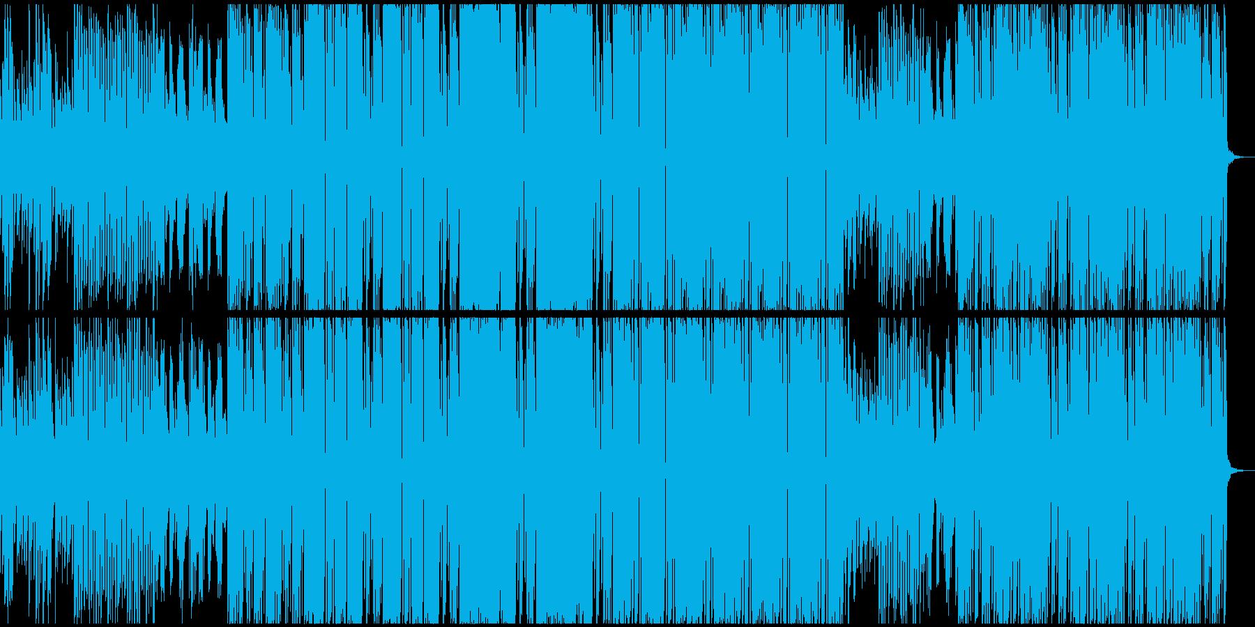 穏やかに動き出す様子(テクノサウンド)の再生済みの波形