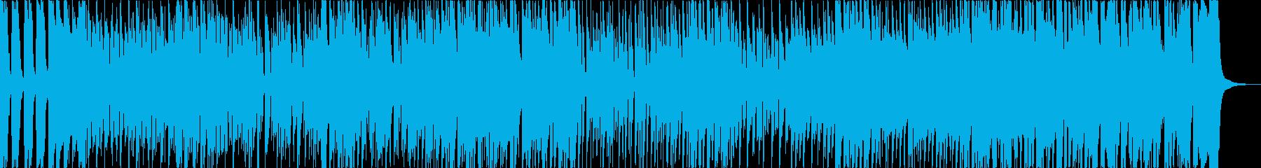 エネルギッシュなファンキーブルースの再生済みの波形