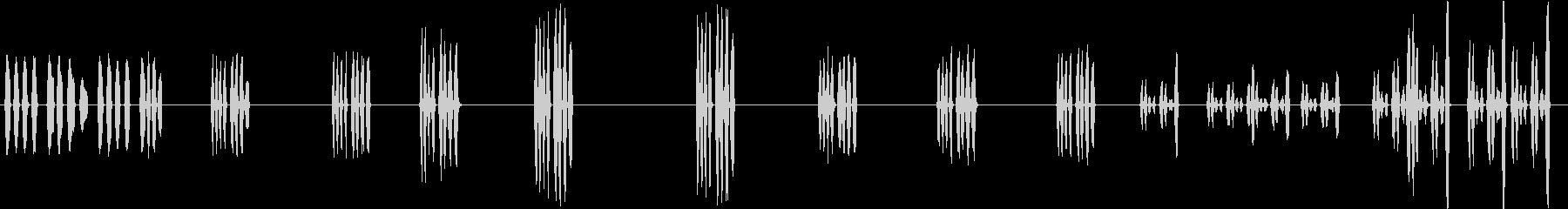 トーンパルスランダムの未再生の波形