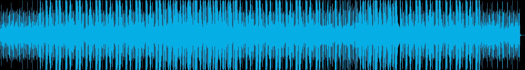 USのヒップホップをイメージしたビートの再生済みの波形