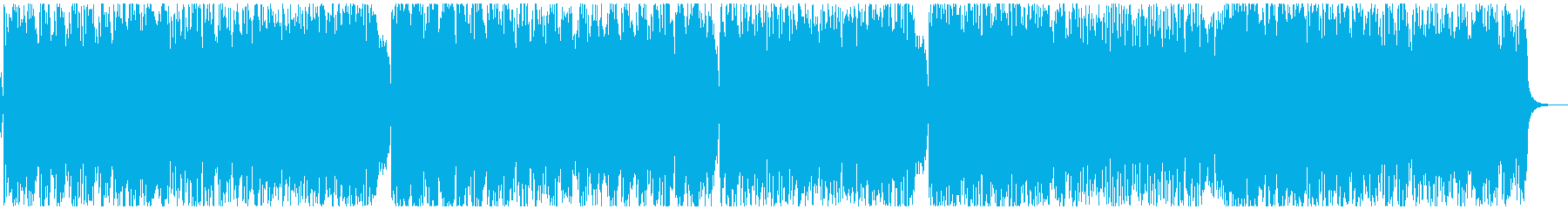 ほんのり哀愁漂うテクノポップの再生済みの波形
