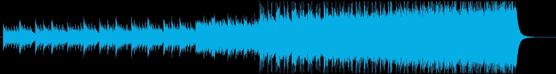 ピアノとエレクロサウンドの融合ポップスの再生済みの波形