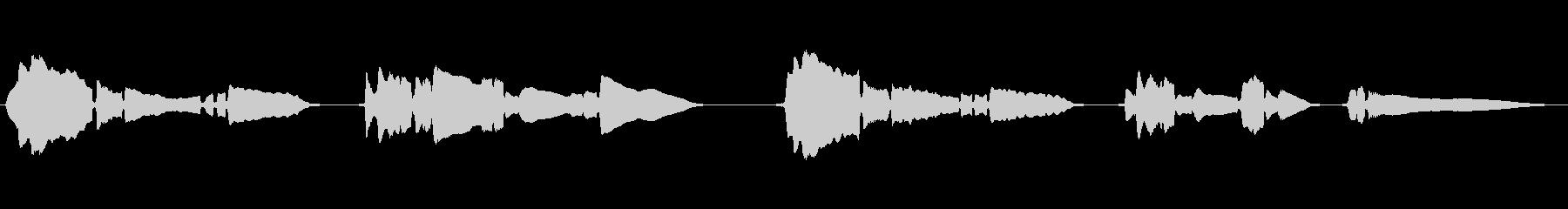 せつないメロディ―をサックスが奏でますの未再生の波形