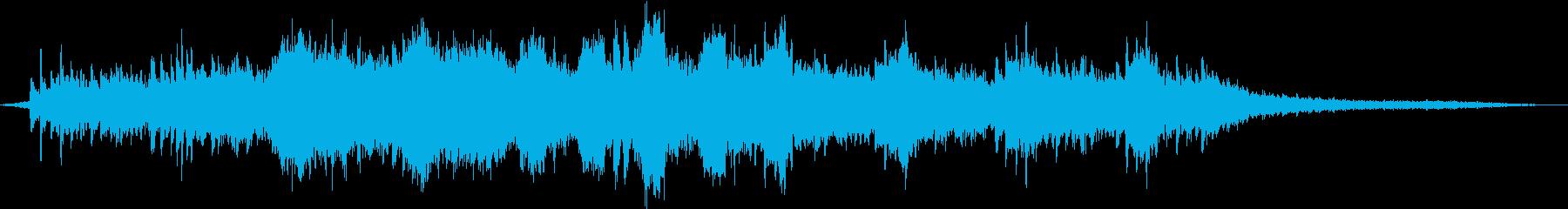 ピアノが印象的な空間系BGMの再生済みの波形