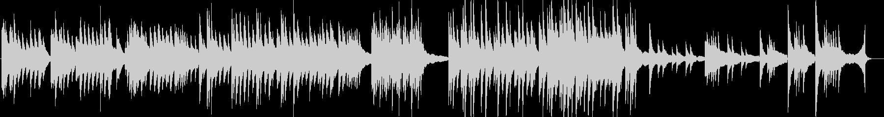 人間のどろっとした感情を表現する暗い曲の未再生の波形
