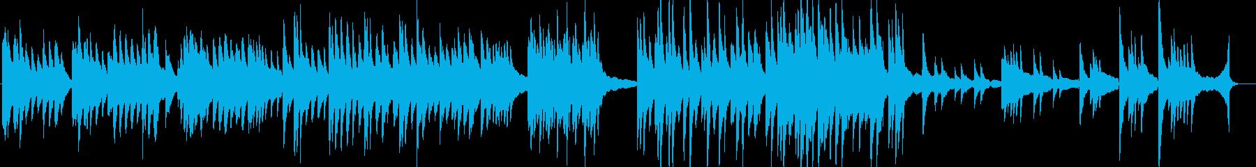 人間のどろっとした感情を表現する暗い曲の再生済みの波形
