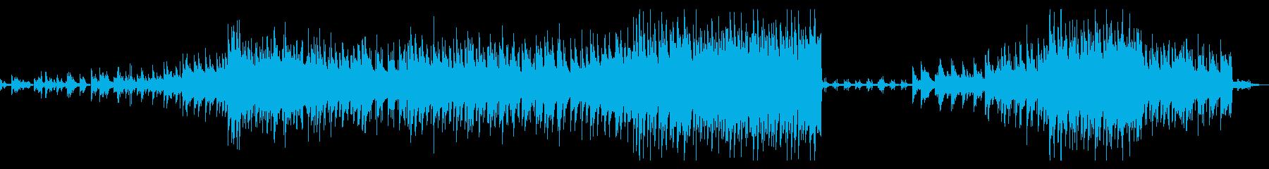 感動的なピアノメイン曲の再生済みの波形
