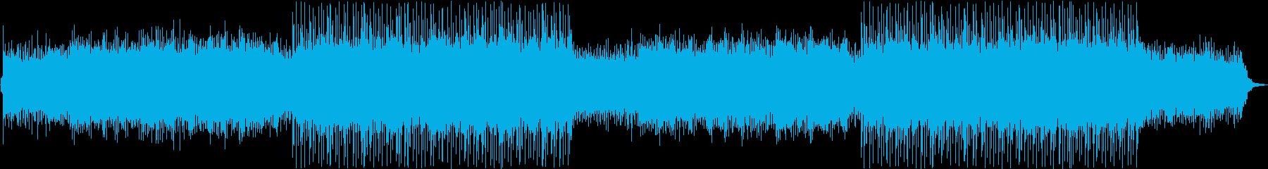おしゃれで軽快なVLOG向けBGMの再生済みの波形