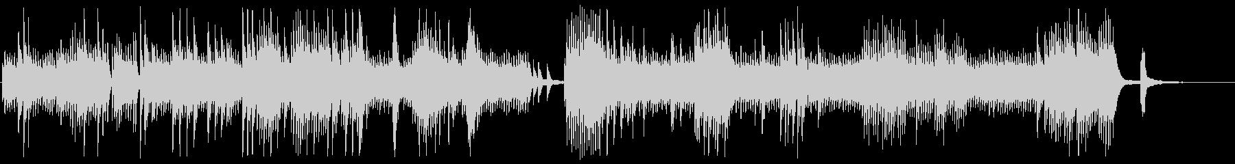 静かでミステリアスなピアノメロディーの未再生の波形