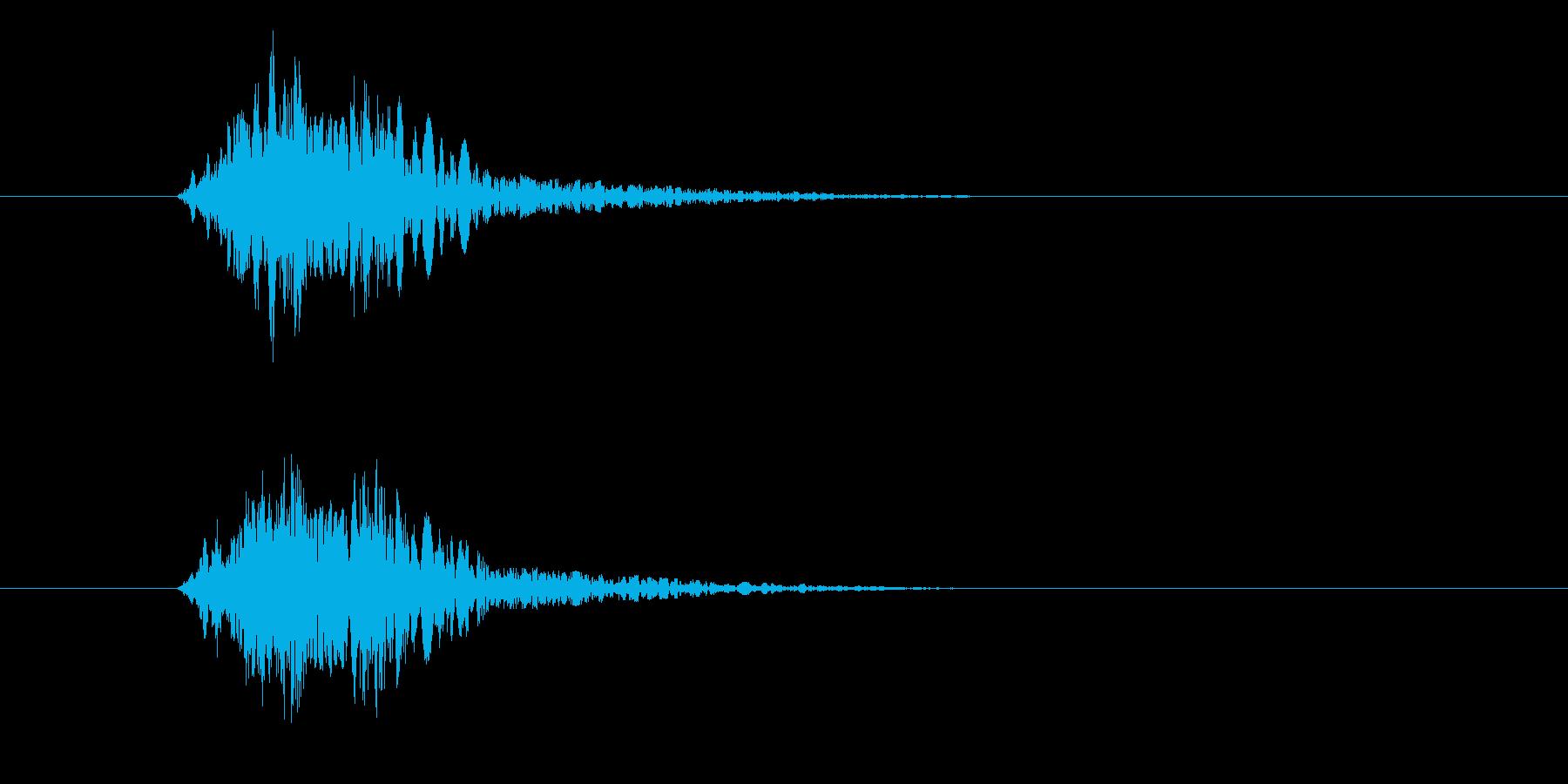 バシッ!(攻撃、ダメージ音)の再生済みの波形