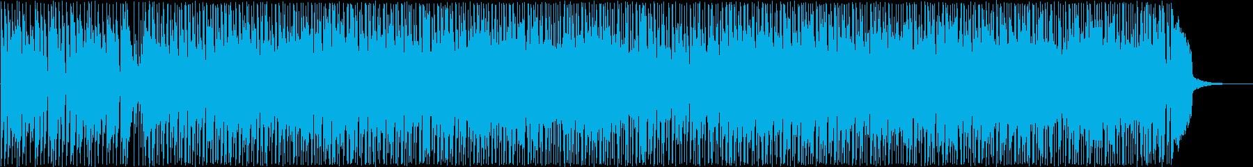 爽やかなシンセサイザーサウンドの再生済みの波形