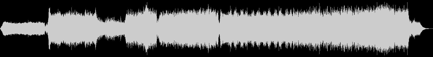 5組曲的アンビエント作品 ピアノ シンセの未再生の波形