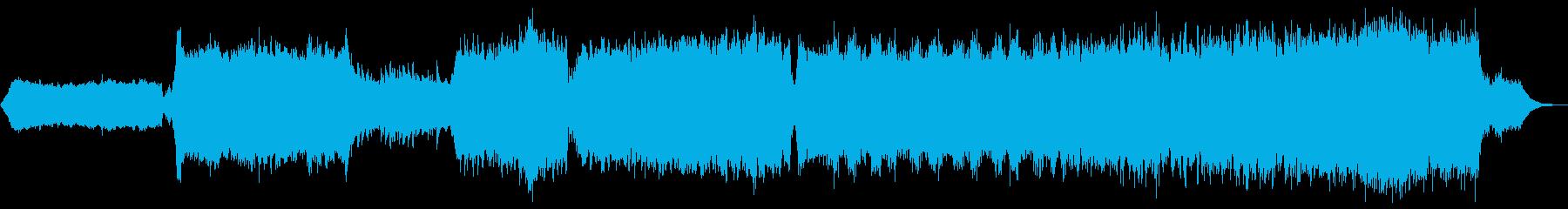 5組曲的アンビエント作品 ピアノ シンセの再生済みの波形