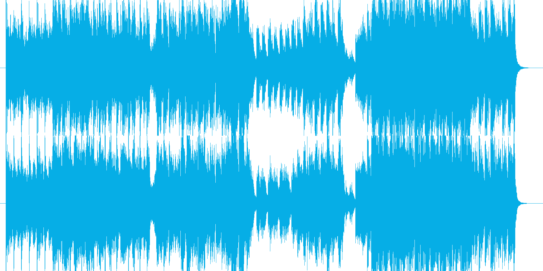 ピアノとオーケストラの壮大な楽曲ですの再生済みの波形