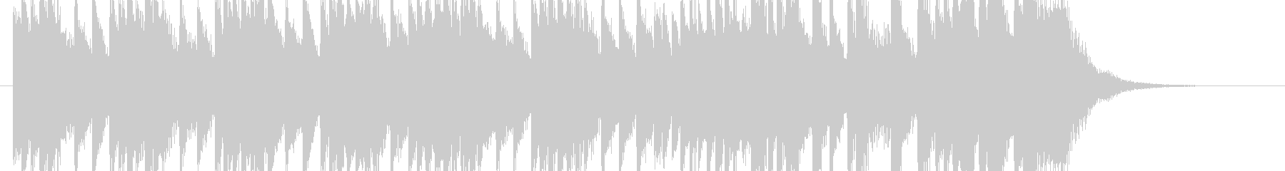 ピアノを使用した透明感のあるジングルですの未再生の波形