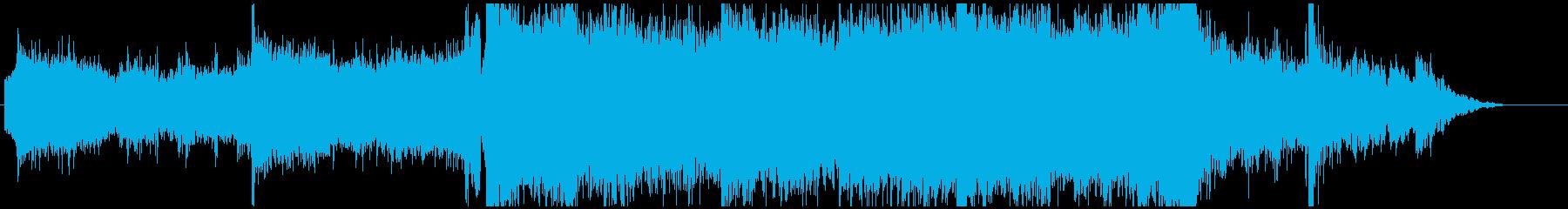ハリウッドアクション映画のトレイラー風の再生済みの波形