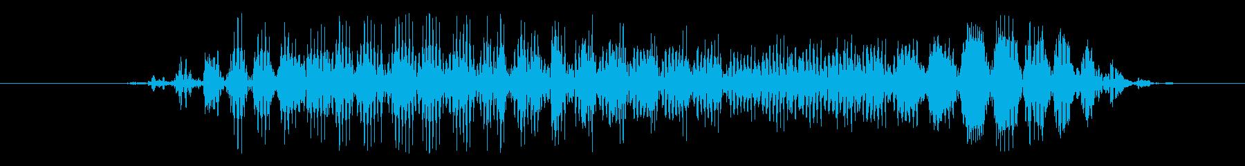 ゴブリン スクリームショートペイン01の再生済みの波形